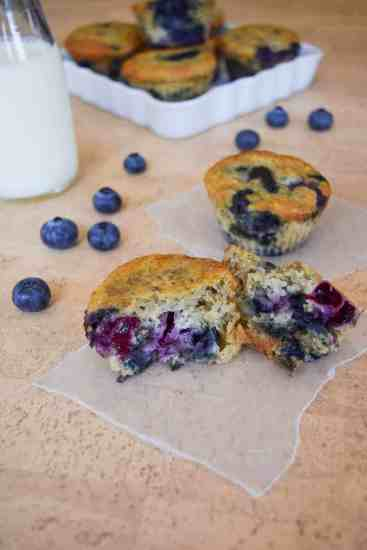 Skinny Blueberry Banana Muffins-6