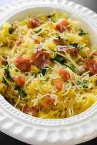 Spaghetti Squash Florentine