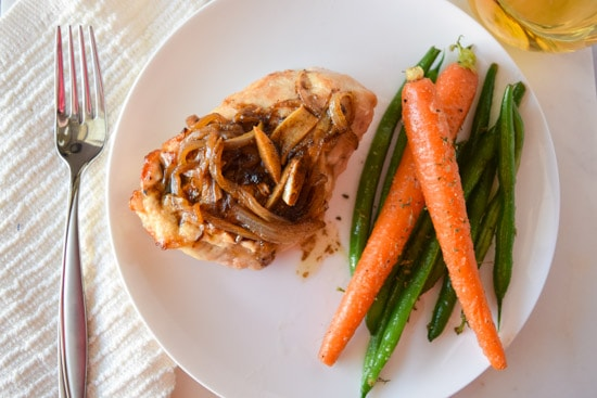 brie and caramelized onion stuffed chicken