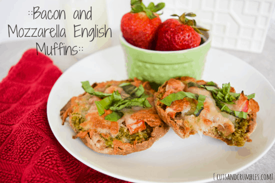 bacon mozzarella english muffins