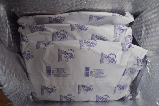 blue apron ice packs inside of box