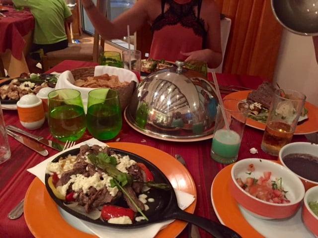 Table of authentic Mexican dinners