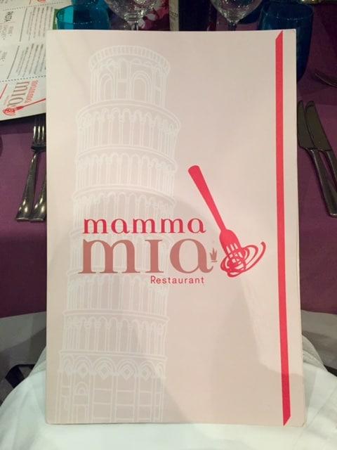 Mamma Mia menu