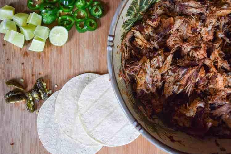 smoked pork tacos