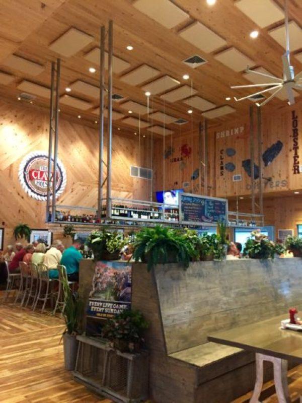 The Claw House restaurant bar with high ceilings
