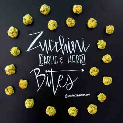 Zucchini Garlic and Herb Bites