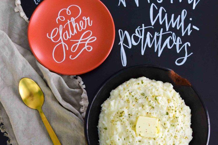 Mashed Cauli-Potatoes