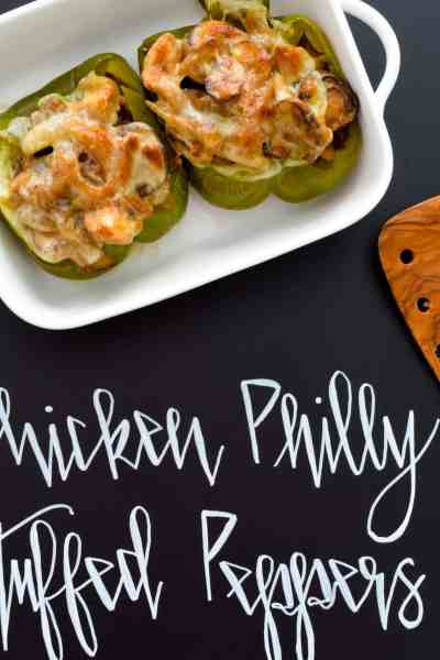 Chicken Philly Stuffed Peppers