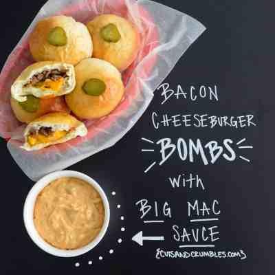 Bacon Cheeseburger Bombs with Big Mac Sauce