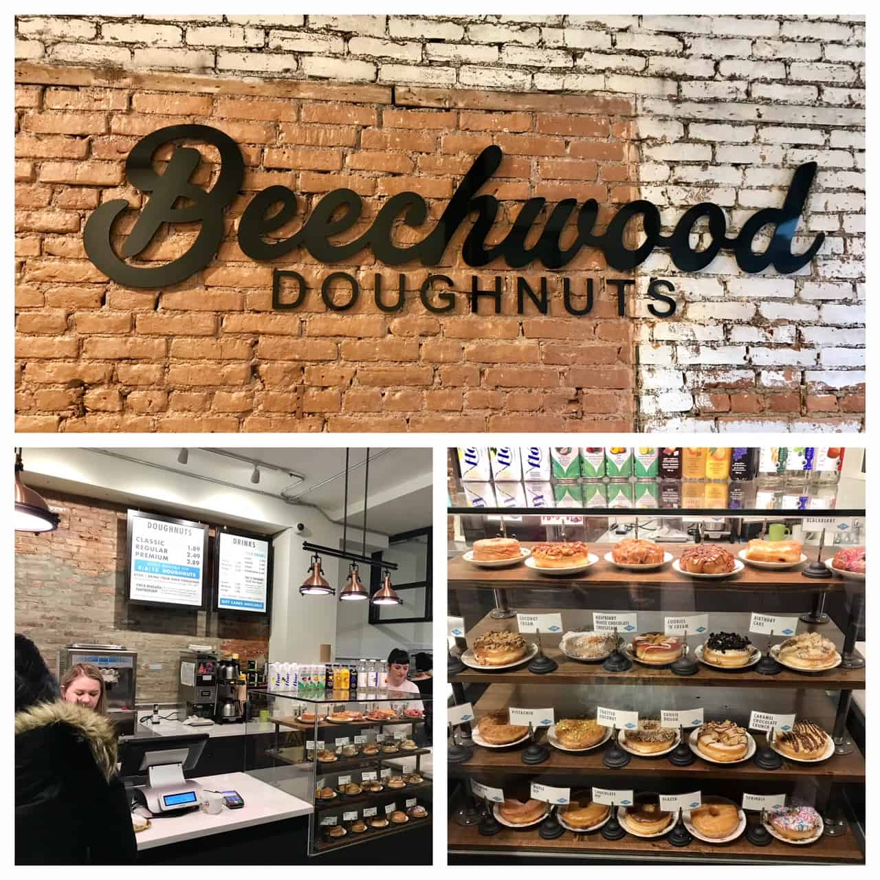 Collage of images from Beechwood Doughnuts