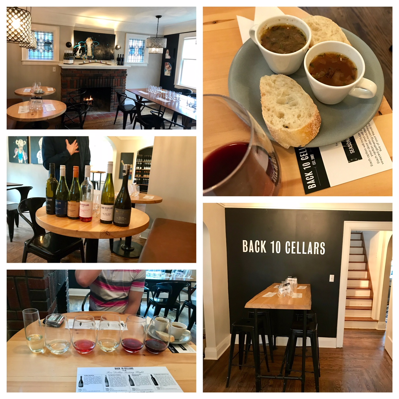 Collage of images from Back 10 Cellars