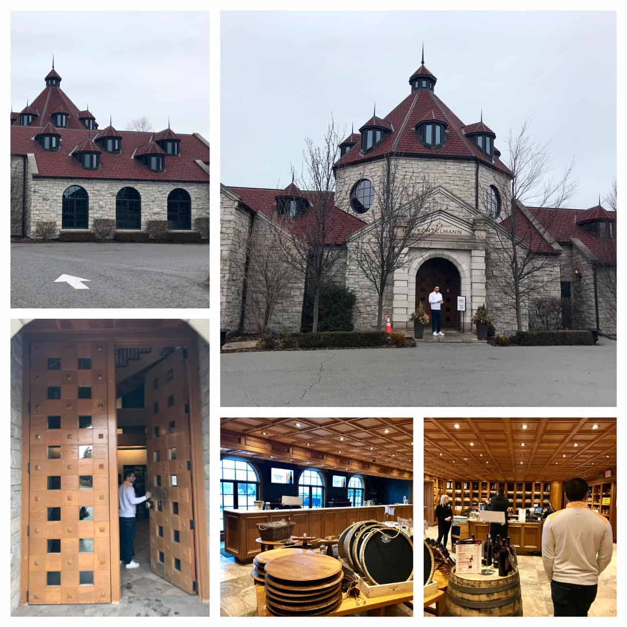 Collage of images from Konzelmann Winery