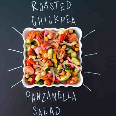 Roasted Chickpea Panzanella Salad