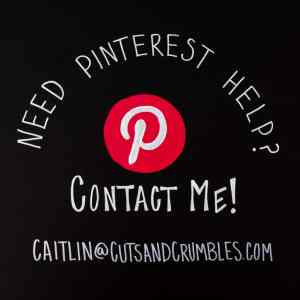 Pinterest Help Image with contact information written on chalkboard