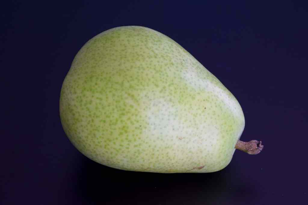 pear on black background