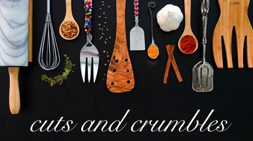 Cuts and crumbles logo image