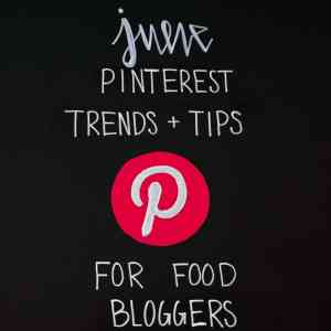 June Pinterest Monthly Trends and Tips on Black Chalkboard