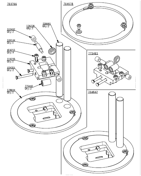 Lectra Auto Cutter Parts , Cutter Kits FX Q25 775465 Guide