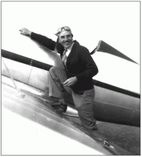William P. Cutter Climbing Into a Ryan STA Monoplane - 1930