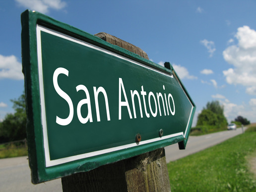 San Antonio road sign