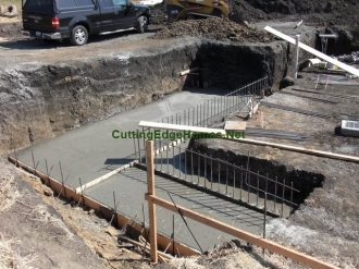 15.5 cubic yards of concrete