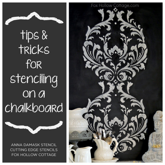 Tips and Tricks for Stenciling on a Chalkboard