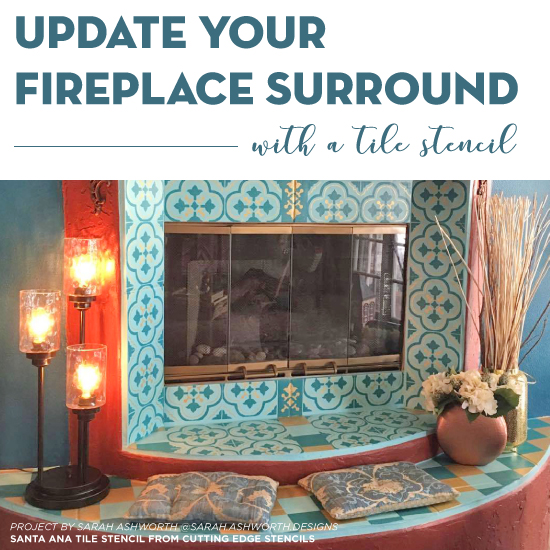 Update Your Fireplace Surround With A Stencil Stencil