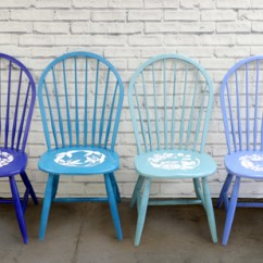 Blue Kitchen Chairs Floor To Ceiling Cabinets Stencil Ombre Painted Learn How Paint And Using A Flower From Cutting Edge