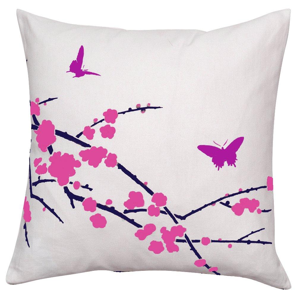 sakura and butterflies diy accent pillow stencil kit