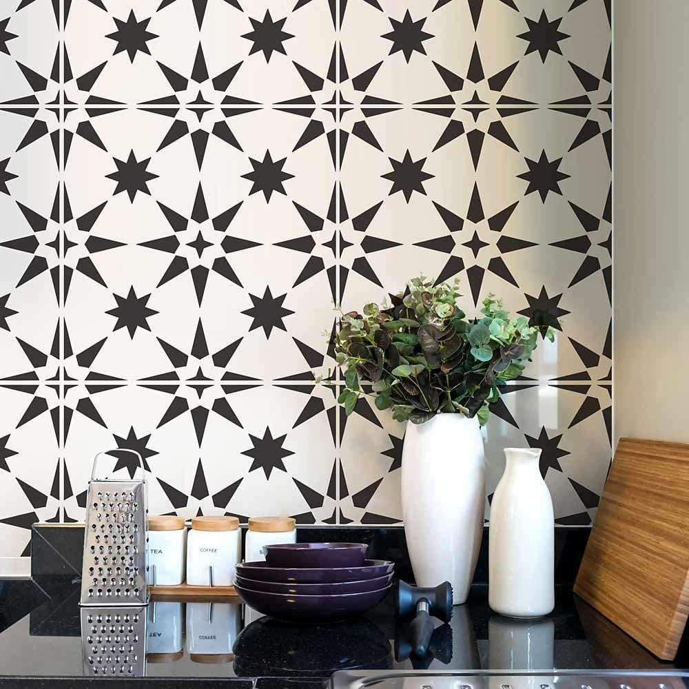 cement floors tile stencils for