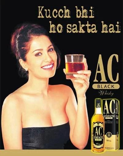 AC Black Apple Juice Whisky Undress Ad