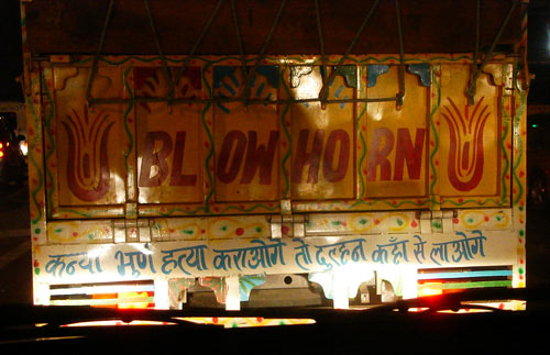 Anti Female Foeticide Message on the Back of a Truck
