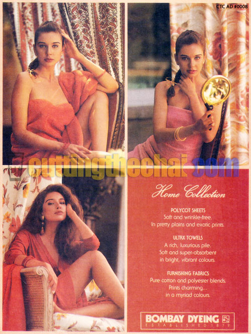 Lisa Ray in Bombay Dyeing ad
