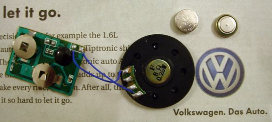 Components of the Volkswagen Vento audio ad device