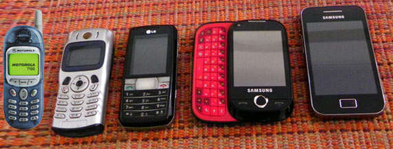 Evolution of my mobile phones
