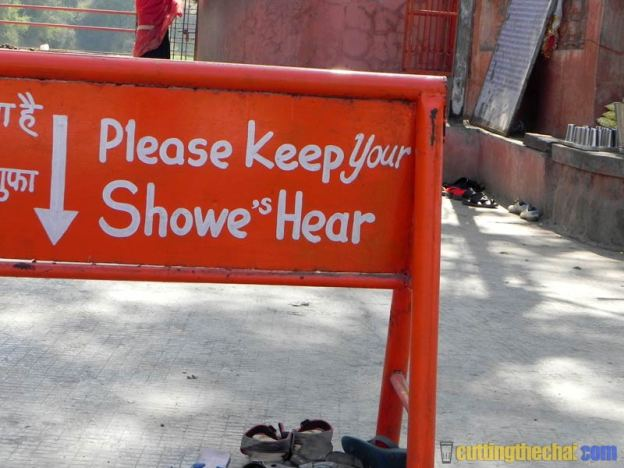 What it means is - Please keep your shoes here