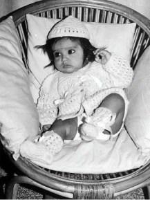 A baby Rahul Dravid