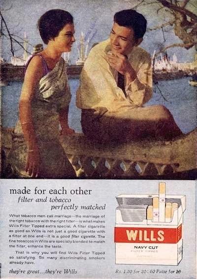 Wills cigarette ad 1971