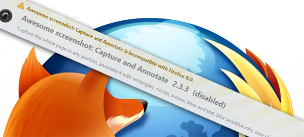 Firefox add-on incompatibility