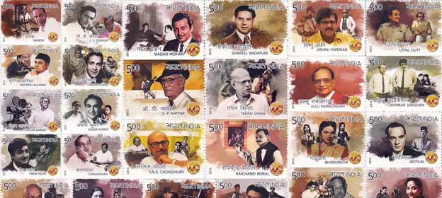 100 years of Indian cinema - India Post's 50 commemorative stamps