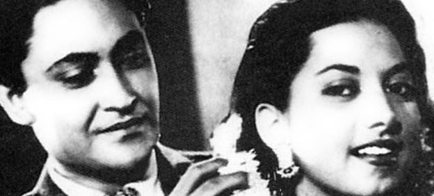 Ashok Kumar with Suraiya