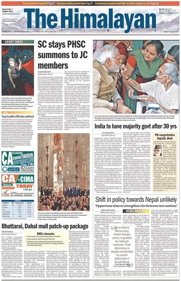 The Himalayan Times, Kathmandu, Nepal