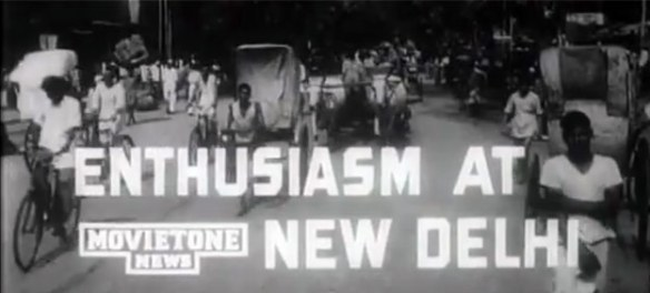 High excitement on the streets of New Delhi on August 15, 1947