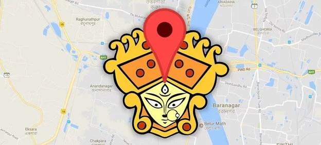 Durga Puja map