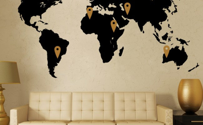 World Map Wall Decor Vinyl Stickers Cutzz