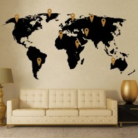 World Map Wall Decor Vinyl Stickers - Cutzz