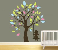 Tree Swing Kids Wall Murals - Cutzz