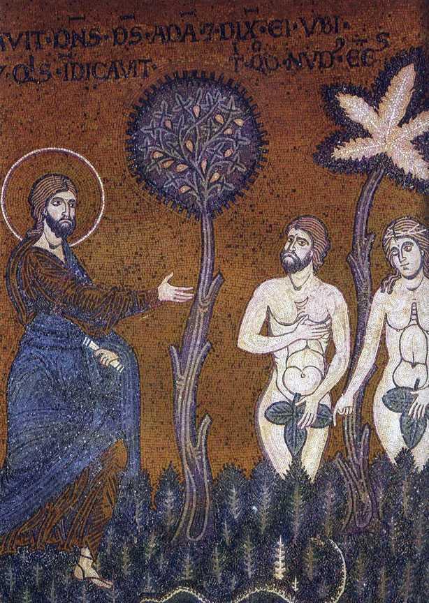 Adam si Eva inaintea lui Dumnezeu dupa caderea in pacat