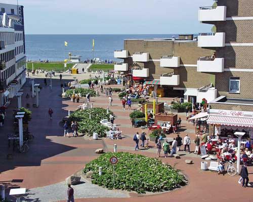 Ferienwohnungen Schild in Cuxhaven Duhnen
