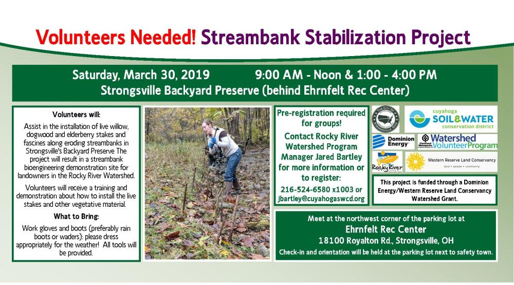 medium resolution of volunteer vegetative streambank stabilization at strongsville backyard preserve afternoon session